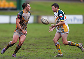 The Wyong Roos play the Ourimbah Magpies during Round 8 of the Bendigo Bank First Grade Division at Morrie Breen Oval on June 2, 2013 in Kanwal, Central Coast, NSW Australia. (Photo by Paul Barkley/LookPro)