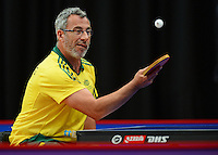 Andrew Browning (AUS)<br /> 2013 ITTF PTT Oceania Regional<br /> Para Table Tennis Championships<br /> AIS Arena Canberra ACT AUS<br /> Wednesday November 13th 2013<br /> © Sport the library / Jeff Crow