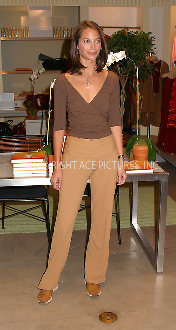"Supermodel Christy Turlington promotes her book, ""Living Yoga: Creating a Life Practice"" at Henri Bendels in New York. October 9, 2002. Please byline: Alecsey Boldeskul/NY Photo Press.   ..*PAY-PER-USE*      ....NY Photo Press:  ..phone (646) 267-6913;   ..e-mail: info@nyphotopress.com"