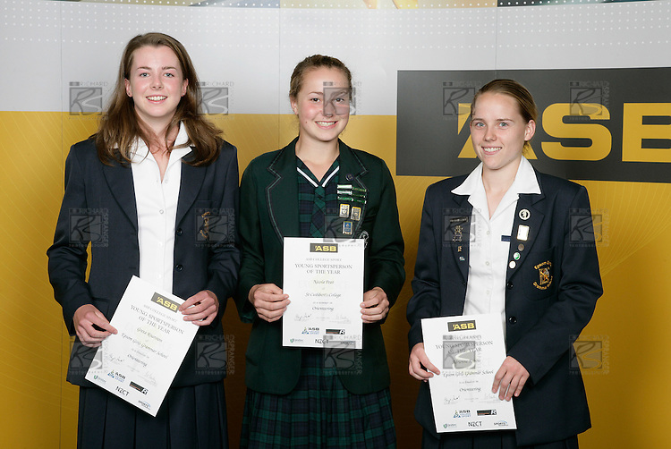 Orienteering Girls Finalists. ASB College Sport Young Sportsperson of the Year Awards 2006, held at Eden Park on Thursday 16th of November 2006.<br />