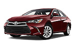Stock pictures of low aggressive front three quarter view of 2017 Toyota Camry 2.5-Auto-LE 4 Door Sedan Low Aggressive