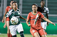 PALMIRA - COLOMBIA, 03-08-2019: Maria Ramirez de Cortulua en acción durante el partido entre Deportivo Cali y Cortuluá por la fecha 4 de la Liga Femenina Águila 2019 jugado en el estadio Deportivo Cali de la ciudad de Palmira. / Maria Ramirez of Cortulua in action during match for the date 4 between Deportivo Cali and Cortulua of the Aguila Women League 2019 played at Deportivo Cali stadium in Palmira city. Photo: VizzorImage / Gabriel Aponte / Staff