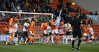 Burton Albion's goalkeeper Bradley Collins punches clear a corner kick<br /> <br /> Photographer Stephen White/CameraSport<br /> <br /> The EFL Sky Bet League One - Blackpool v Burton Albion - Saturday 24th November 2018 - Bloomfield Road - Blackpool<br /> <br /> World Copyright © 2018 CameraSport. All rights reserved. 43 Linden Ave. Countesthorpe. Leicester. England. LE8 5PG - Tel: +44 (0) 116 277 4147 - admin@camerasport.com - www.camerasport.com