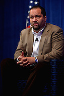 October 24, 2013  (Washington, DC)  NAACP president Benjamin Jealous during a panel discussion at the 10th anniversary policy conference of the Center for American Progress in Washington, D.C.  (Photo by Don Baxter/Media Images International)