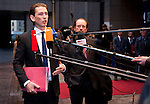 Brussels-Belgium - January 20, 2014 -- Meeting of the EU-Council on Foreign Affairs; here, 'doorstep'-briefing of the press upon arrival by Sebastian KURZ, Foreign Minister of Austria -- Photo: © HorstWagner.eu