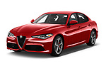 2017 Alfa Romeo Guilia Auto 4 Door Sedan angular front stock photos of front three quarter view
