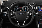 Car pictures of steering wheel view of a 2016 Ford Galaxy Titanium 5 Door Minivan Steering Wheel