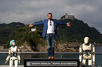 Antonio Banderas presents the film 'Automata' during the 62st San Sebastian Film Festival in San Sebastian, Spain. September 20, 2014. (ALTERPHOTOS/Caro Marin) <br /> Foto Insidefoto <br /> Festival del film di San Sebastian <br /> Foto Alterphotos/Insidefoto