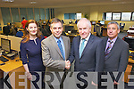 Pictured at the jobs announcement in Aspen Grove Solutionsbased in the Kerry Technology Park, Tralee  on Monday afternoon were: Caitriona Py Collins (Marketing Manager), Seán Ryan (CEO), Minister Jimmy Deenihan and Ogie Moran. Pictured at the jobs announcement in Aspen Grove Solutions based in the Kerry Technology Park, Tralee  on Monday afternoon were: Caitriona Py Collins (Marketing Manager), Seán Ryan (CEO), Minister Jimmy Deenihan and Ogie Moran. ]