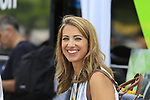 Eurosport's Laura Meseuger at sign on in Mondorf-les-Bains before the start of Stage 4 of the 104th edition of the Tour de France 2017, running 207.5km from Mondorf-les-Bains, Luxembourg to Vittel, France. 4th July 2017.<br /> Picture: Eoin Clarke | Cyclefile<br /> <br /> <br /> All photos usage must carry mandatory copyright credit (&copy; Cyclefile | Eoin Clarke)