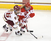 Kelli Stack (BC - 16), Lauren Cherewyk (BU - 7) - The visiting Boston University Terriers defeated the Boston College Eagles 1-0 on Sunday, November 21, 2010, at Conte Forum in Chestnut Hill, Massachusetts.