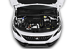 Car Stock 2019 Peugeot 2008 GT-Line 5 Door SUV Engine  high angle detail view
