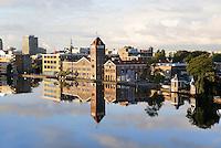 Nederland Zaandam 2015.  De oude Verkade Chocolade / Koekfabriek aan de Zaan. Tegenwoordig zijn er diverse bedrijven in gevestigd. Foto Berlinda van Dam / Hollandse Hoogte