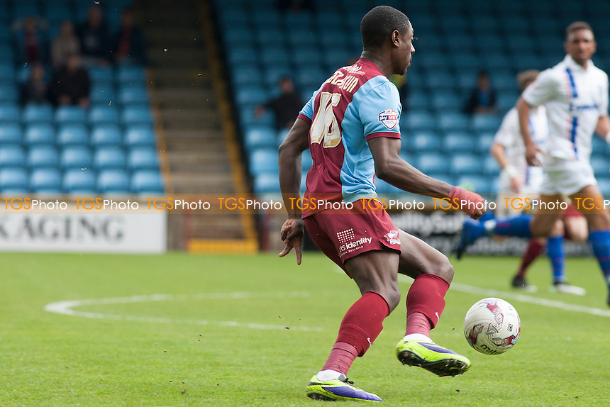 opening goalscorer Hakeeb Adelakun of Scunthorpe United<br />  - Scunthorpe United vs Gillingham - Sky Bet League One Football at Glanford Park, Scunthorpe, Lincolnshire - 25/04/15 - MANDATORY CREDIT: Mark Hodsman/TGSPHOTO - Self billing applies where appropriate - contact@tgsphoto.co.uk - NO UNPAID USE