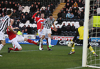 Kenny McLean shoots in the St Mirren v Brechin City William Hill Scottish Cup Round 4 match played at St Mirren Park, Paisley on 1.12.12.