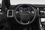 Car pictures of steering wheel view of a 2018 Land Rover Range Rover Sport HSE Dynamic 5 Door SUV