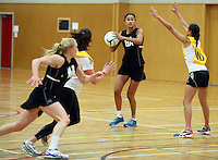 26.10.2013 Silver Fern Maria Tutaia in action during the Silver Ferns trainig ahead of the second test match against Malawi in Napier. Mandatory Photo Credit ©Michael Bradley.