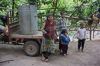 Kashi, Xinjiang Province, May 2014 - A peasant family