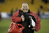 Steelers manager Andy Baker is all smiles as Counties Manukau  get their first win in the Air NZ Cup game between the Counties Manukau Steelers and Southland played at Mt Smart Stadium on 3rd September 2006. Counties Manukau won 29 - 8.