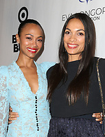 LOS ANGELES, CA - NOVEMBER 8: Zoe Saldana, Rosario Dawson, at the Eva Longoria Foundation Dinner Gala honoring Zoe Saldana and Gina Rodriguez at The Four Seasons Beverly Hills in Los Angeles, California on November 8, 2018. Credit: Faye Sadou/MediaPunch
