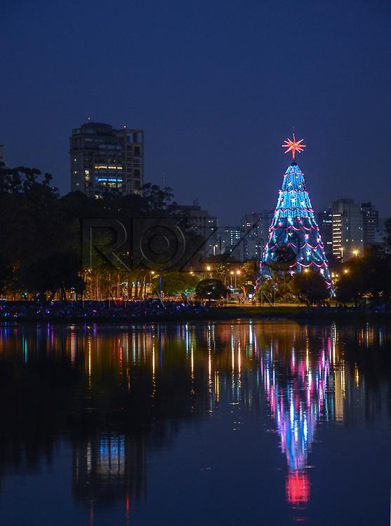 Árvore de natal no Parque do Ibirapuera, São Paulo - SP, 12/2012
