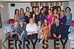 Mary Corkery, Corkerys Bar, Killarney, pictured with family and friends as she celebrated her 40th birthday in Corkerys on Saturday night.........