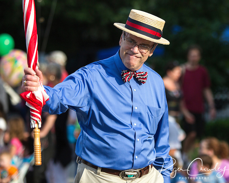 State Representative Warren Kitzmiller in the July 3rd Parade in Montpelier Vermont 2013.