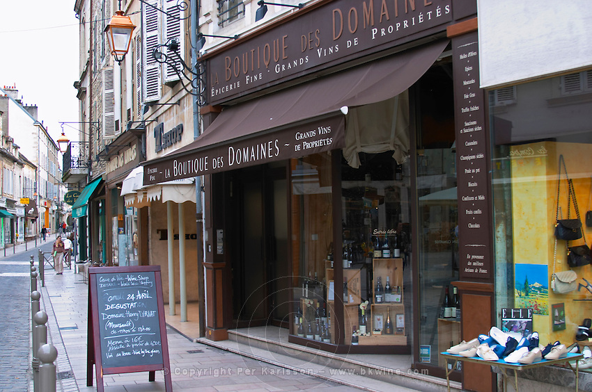 wine shop boutique des domaines beaune cote de beaune burgundy france