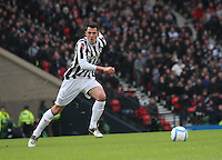 Steven Thompson in the St Mirren v Celtic Scottish Communities League Cup Semi Final match played at Hampden Park, Glasgow on 27.1.13.