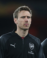Arsenal's Nacho Monreal<br /> <br /> Photographer Rob Newell/CameraSport<br /> <br /> Football - UEFA Europa League Round of 16 Leg 2 - Arsenal v Rennes - Thursday 14th March 2019 - The Emirates - London<br />  <br /> World Copyright © 2018 CameraSport. All rights reserved. 43 Linden Ave. Countesthorpe. Leicester. England. LE8 5PG - Tel: +44 (0) 116 277 4147 - admin@camerasport.com - www.camerasport.com