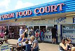 Seaside Forum Food Court takeaway food businesses, seafront at Felixstowe, Suffolk, England, UK