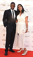 Adrian Lester,  Lolita Chakrabarti  at The Old Vic Bicentenary Ball held at The Old Vic, The Cut, Lambeth, London, England, UK on Sunday13 May 2018.<br /> CAP/MV<br /> &copy;Matilda Vee/Capital Pictures