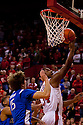 05 December 2010:  Nebraska Cornhuskers guard Lance Jeter (34) lays the ball up for two against the Creighton Bluejays at the Devaney Sports Center in Lincoln, Nebraska. Nebraska defeated Creighton 59 to 54.