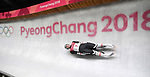 Reinhard Egger (AUT). Mens luge. Pyeongchang2018 winter Olympics. Alpensia sliding centre. Alpensia. Gangneung. Republic of Korea. 11/02/2018. ~ MANDATORY CREDIT Garry Bowden/SIPPA - NO UNAUTHORISED USE - +44 7837 394578