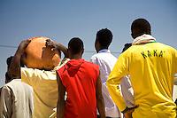 Tunisie RasDjir Camp UNHCR de refugies libyens a la frontiere entre Tunisie et Libye ....Tunisia Rasdjir UNHCR refugees camp  Tunisian and Libyan border Campo profughi libici alla frontiera