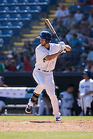 Max White (4) of the Asheville Tourists at bat against the Rome Braves at McCormick Field on July 26, 2015 in Asheville, North Carolina.  The Tourists defeated the Braves 16-4.  (Brian Westerholt/Four Seam Images)
