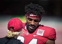 Stanford, CA - September 21, 2019: Thomas Booker at Stanford Stadium. The Stanford Cardinal fell to the Oregon Ducks 21-6.
