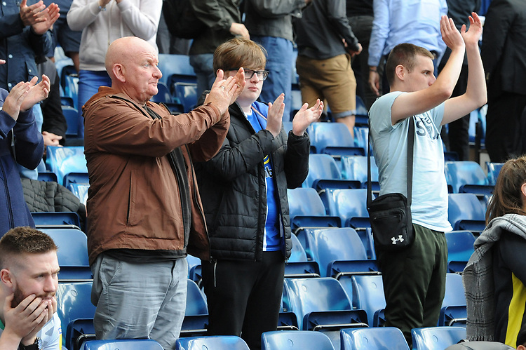 Blackburn Rovers fans applaud their team at the final whistle <br /> <br /> Photographer Kevin Barnes/CameraSport<br /> <br /> The EFL Sky Bet Championship - West Bromwich Albion v Blackburn Rovers - Saturday 31st August 2019 - The Hawthorns - West Bromwich<br /> <br /> World Copyright © 2019 CameraSport. All rights reserved. 43 Linden Ave. Countesthorpe. Leicester. England. LE8 5PG - Tel: +44 (0) 116 277 4147 - admin@camerasport.com - www.camerasport.com