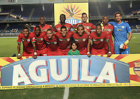CALI - COLOMBIA – 13 -02-2017: Los jugadores de Cortulua posan para una foto, durante partido entre Cortulua y Patriotas FC, por la fecha 3 de la Liga Aguila I 2017 jugado en el estadio Pascual Guerrero de la ciudad de Cali. / The players of Cortulua pose for a photo, during a match Cortulua and Patriotas FC, for the date 3 of the Liga Aguila I 2017 played at the Pascual Guerrero stadium in Cali city. Photo: VizzorImage / Luis Ramirez / Staff.