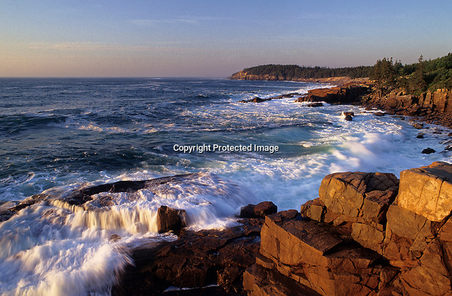 Wave crashing at Acadia National Park, Maine, USA