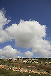 Israel, Lower Galilee. A view of Moshav Yodfat