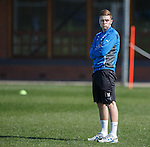 Lewis Macleod at training
