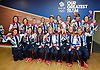 Team GB<br /> Women's Hockey Team<br /> Bronze Medal winners<br /> press conference at Team GB House, Stratford, London, Great Britain <br /> 11th August 2012 <br />  <br /> Women's Hockey Team<br /> <br /> back row l to r :<br /> <br /> Beth Storry ; Helen Richardson ; Chloe Rogers ; Laura Bartlett ; Hannah Macleod; Crista Cullen ; Ashleigh Ball ; Sally Walton ; Kate Walsh.<br /> <br /> Front row l to r : <br /> <br /> Anne Panter ; Sarah Thomas ; Laura Unsworth ; Alex Danson : Emily Maguire ; Nicola White ; Georgie Twigg<br /> <br /> Photograph by Elliott Franks