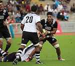 Akira Ioane. Maori All Blacks vs. Fiji. Suva. MAB's won 27-26. July 11, 2015. Photo: Marc Weakley