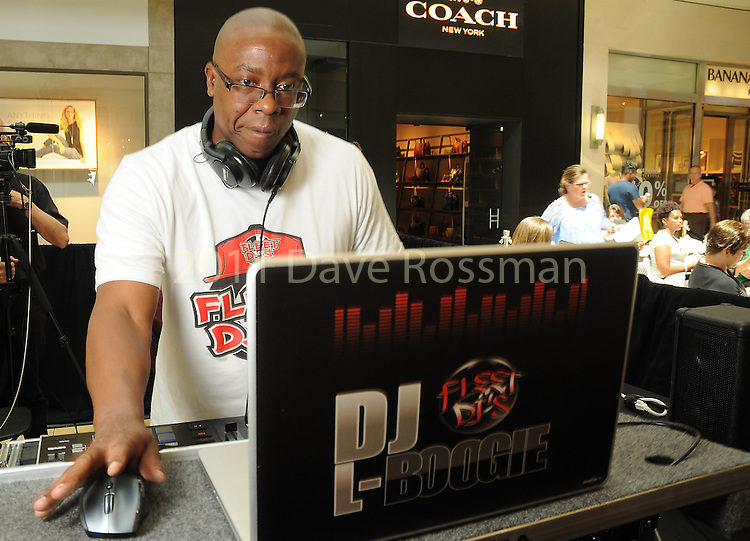 D.J. L-Boogie at the M.D. Anderson Back to School Fashion show at the Galleria Saturday Aug. 06,2016.(Dave Rossman Photo)