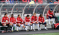 22 April 2009: Chivas USA substitute players at BMO Field in a MLS game between Chivas USA and Toronto FC.Toronto FC won 1-0. .