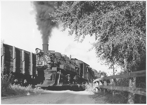 D&amp;RGW #483 as pusher on Monarch turn.<br /> D&amp;RGW  Monarch Branch, CO