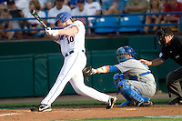 Florida's Austin Maddox against UCLA in Game 2 of the NCAA Division One Men's College World Series on Saturday June 19th, 2010 at Johnny Rosenblatt Stadium in Omaha, Nebraska.  (Photo by Andrew Woolley / Four Seam Images)