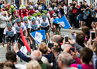 Picture by Alex Broadway/SWpix.com - 03/05/2018 - Cycling - 2018 Tour de Yorkshire - Stage 1: Beverley to Doncaster - Team Sky in action.