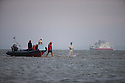 11/09/14 <br /> <br /> Waiting for the sandbank to appear.<br /> <br /> ***Caption Correction  - Cowes not Ryde as in previous****<br /> <br /> Rival teams from the Royal Southern Yacht Club and The Island Sailing Club compete in a game of cricket on the Brambles Bank sandbank at dawn. The sandy wicket only appears for a few minutes on the lowest tide of the year in the middle of the Solent between Cowes and Southampton.<br /> <br /> All Rights Reserved - F Stop Press.  www.fstoppress.com. Tel: +44 (0)1335 300098